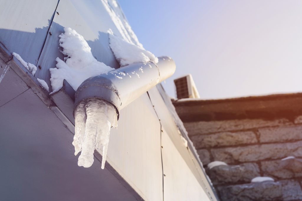 What to do if I have frozen gutters